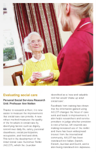 Kent Research Making a Difference article